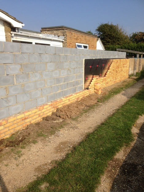 Extension block & brick work