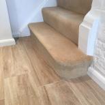 Flooring wood-effect ceramic tiles