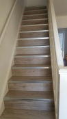 Laminate stairs with aluminium nosing