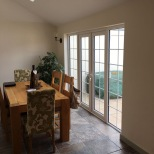 French patio doors roof window insulation and flooring