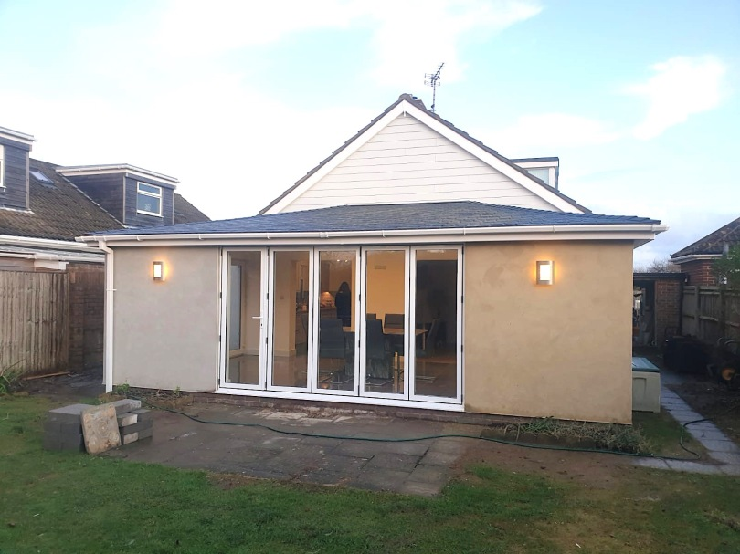 Conservatory Exterior Cladding Render