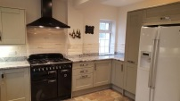 Kitchen with double hob extractor
